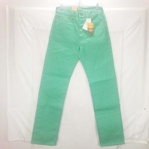Mint green Ladies Button Fly Levi's